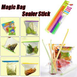 Magic Bag Sellador Clips de palo Las varillas de sellado únicas mantienen los alimentos frescos Almacenamiento de alimentos más largos 8 paquetes de 4 tamaños desde clips de bolsas fabricantes