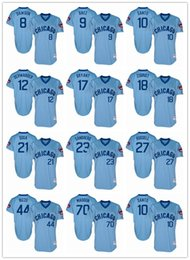 Wholesale Chicago Cubs Baby Blue Pinstripe Jersey Andre Dawson Javier Baez Kyle Schwarber Kris Bryant Ryne Sandberg Addison Russell Anthony Rizzo