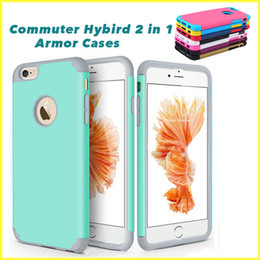 Wholesale For iPhone s s Two in One Colorful Protection Case Four Corner Robot TPU PC Soft Case with Opp Package