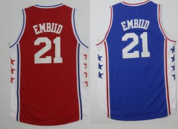 Wholesale New high quality Low price Men s EMBIID blue red Running Jerseys Embroidery Logo With Name Mix order new fabrics retro Jerseys