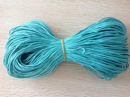 2mm Aqua Green Nylon Cord + Rattail Braid Macrame Rope Accessories Making Beading Shamballa Bracelet Cords 90m=90m*1Roll