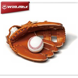 Wholesale 2017 AAA WINMAX Baseball Glove Softball Leather Softball PVC Junior inch Hand Sport Finger Gloves For Men Sports Outdoors Accs