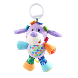Wholesale 7 Styles Baby Toys Cute Animal Baby Rattles Mobiles Infant Soft Plush Learning Products Kids Gift WA1760