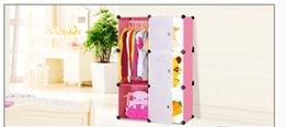 Compra Online Armarios niños-Libere el armario plástico del gabinete de almacenaje de la combinación del bebé del dibujo animado del guardarropa del bebé del guardarropa del envío ahora 2017 ahora