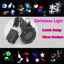 Wholesale Colour Laser - led wall decoration laser light LED RGB colour 12 pattern card change lamp Projector Showers led laser light for holiday