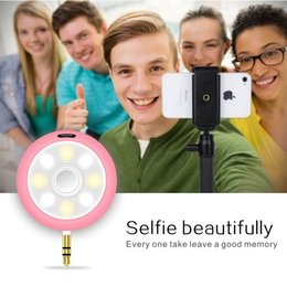 Anillo de luz led de la cámara en venta-Bluetooth 3.5mm altavoz de audio LED Selfie relleno de altavoces de luz 2 en 1 LED de luz Belleza Flash anillo de la cámara de altavoces para Smart iPhone