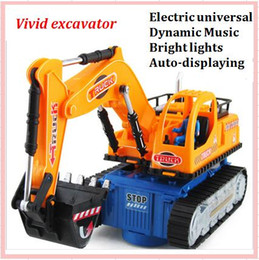 Wholesale 2017 Lovely Mini Diecast Car Construction vehicle Engineering Excavator Dump Roller Truck Light Music Model Classic Kids Gift Model Toys