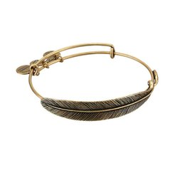 Wholesale 2016 hot style in Europe and America Alex and Ani restoring ancient ways of fashion accessories Plume Feather alloy bracelet