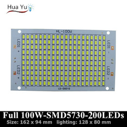 Wholesale Full Power W lm led PCB with SMD5730 chip x94mm leds pcb board Aluminum plate base with leds diy for floodlight