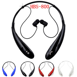 HBS800 Universal Headphone Wireless Bluetooth 3.0 Headset Earphone sport Neckband Handsfree in-ear Stereo Earbuds Microphone with Retail Box