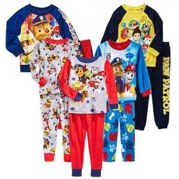Wholesale kids Pajamas Baby Cotton Cartoon Long sleeve Clothes Pants Homewear Sets patrol Dog Boys Girls Christmas Children Clothing