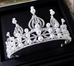 High-quality 2017 new European Baroque crown DG crown retro bride headdress pearl diamond wedding wedding crown hand hair accessories