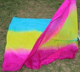 design 100% real silk belly dance veil, cheap dance veils,Rectangular veil wholesale turquoise yellow rose