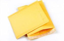 Kraft enveloppe jaune à vendre-Grossiste-10pcs 11 Tailles Jaune Kraft Bulle Mailing Enveloppe Sacs Bulle Mailers Enveloppes Rembourrées Emballage Sacs d'expédition
