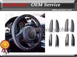 Wholesale Car Accessories Matte Glossy Dry Carbon Fiber Shift Paddle Cover Fit For Gallardo LP550 LP560 LP570 Wheel Shifter