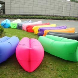 Wholesale Lounge Sleep Bag Lazy Inflatable Beanbag Sofa Chair Living Room Bean Bag Cushion Outdoor Self Inflated Beanbag Furniture DHL free