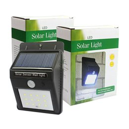 Luces led solar led solar en venta-Las luces solares 12 llevó la iluminación brillante de la seguridad del LED Iluminación al aire libre del sensor de movimiento para la cercadura y la trayectoria del patio del jardín