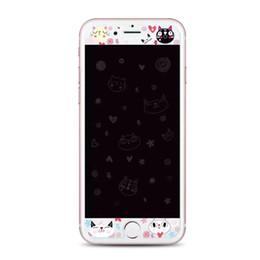 Para el iPhone 6 6s 7 más la alta calidad templó el protector de la pantalla de la Anti-explosión del patrón de la historieta de la manera HD de la manera con el paquete al por menor desde iphone vidrio de alta calidad fabricantes