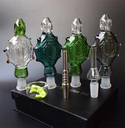 Eaux fraîches à vendre-2016 Le plus récent collectionneur de nectar Perc pendentif avec des bouts de titane Refroidi à l'eau et Spillproof Nectar Collector 3.0 Bongs de verre de plate-forme d'huile