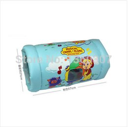 Wholesale shelcore baby balloon toy training first walking Crawl Along Baby inflatable toys musical Peek in Roller