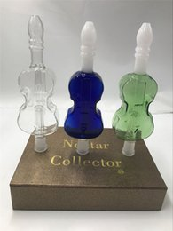 Wholesale Guitar Design Nectar Collector with GR2 Grade Titanium Nail mm Joint Size Honey Straw Concentrate Oil Rig Dab Straw