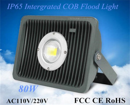 Wholesale 80W lm w Intergrated COB Floodlight High Cost Performane LED Landscape Lamps Outdoor Waterproof W COB Tunnel Light Input AC110V V