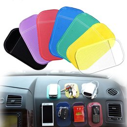 Wholesale Sticky Dash Pads Car - Wholesale-Automobiles Interior Accessories GPS Anti Slip Car Magic Grip Sticky Pad Anti Non Slip Mat Dash Cell Phone Holder Candy Color
