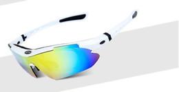Descuento lentes polarizadas Gafas De Sol Deportivas - Obaolay Polarized Cycling Hombre Gafas De Sol Road Mountain Bike Protección De La Bicicleta Gafas De Sol 5 Lente, Blanco Negro Marco