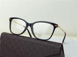 Wholesale new brand eyeglass G3848 cat eye frame glasses women eye frame brand designer prescription glasses metal bamboo legs cool design