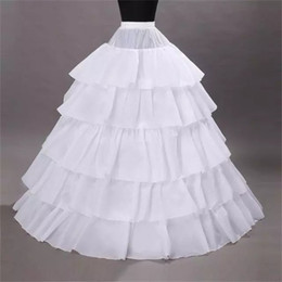 Brand New Petticoats with Ruffles White Black Red Ball Gown 4 Hoops 5 Layers Slip Underskirt Crinoline For Wedding Formal Dress