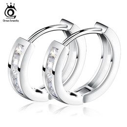 Orsa Jewelry Platinum Plated Silver Fashion Earring For woman Gift for friend Woman Hoop Earring OE02