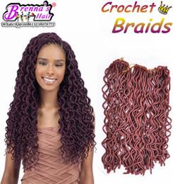 Femmes noires Omber Curly Weave Hairstyle Faux Locs Bracelet en crochet synthétique Cheveux pour les femmes Long Curly Jumbo Braids Crochet Hair Extensi supplier curly weaves hairstyles à partir de bouclés tisse coiffures fournisseurs