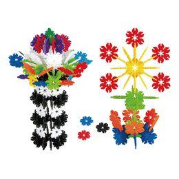 115 PCS Plastic Leaf Snowflake Blocks imaginational Children Puzzle Educational Enjoyable Toy For Fun Bricks & Blocks 1ZJ0007-jimu-m