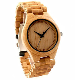 Promotion mens multi fonction Montre en bois nouvelle arrivée multifonctionnel en cuir naturel en bois en bambou cadran simple mode hommes en cuir montre-bracelet en gros SY-WD223