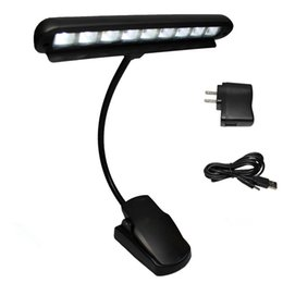 Wholesale High Quality Rechargeable Table Lamp LED Clip Light Orchestra Arm Flexible Music Stand Adapter Book Reading Lamp Book Lights piano lamp