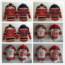 Wholesale Baseball Hoodies Boston Red Sox David Ortiz Dustin Pedroia David Price Wade Boggs Mens Hoody Sweatshirts