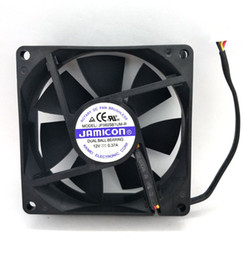 New Original JAMICON JF0825B1UM-R DC12V 0.37A 80*80*25MM 8CM Two Ball Bearing 3 Lines Cooling fan