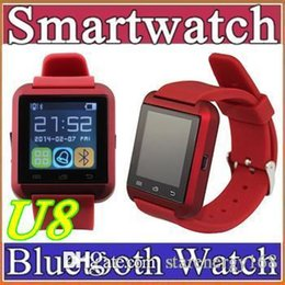 Wholesale 50X Bluetooth Smartwatch U8 U Watch smartwatch A1 DZ09 GT08 for iPhone S S Samsung S4 S5 Note Note HTC Android Phone Smartpho A BS
