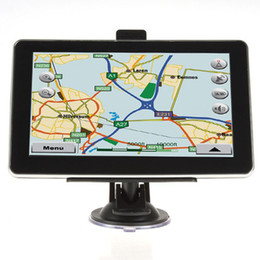 Wholesale 7 inch Car GPS Navigation Vehicle Navigator MTK MB GB GB With Bluetooth AV FM Multilingual Win CE New Map Free DHL