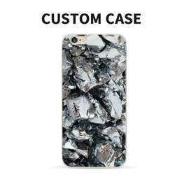Wholesale DIY Customize Logo Phone Case Cover for iPhone X Marble Stone Pattern Silicone Phone Shell