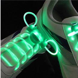 Discothèque clignotant conduit à vendre-LED Sport Chaussures Lacets Flash Light Glow Stick Strap Lacets Disco Party Club 1 Paire 80cm de long Vente dans le monde