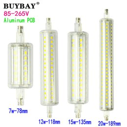 No flicker R7S Bulb 220V 7W 78mm 12W 118mm 15W 135mm 20W 189mm led Lamp SMD2835 led light For Lawn Floodlight
