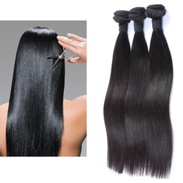 Top Quality Hair Brazilian Straight Virgin Hair Weave 3 Bundles 10-28 inch 150g lot 100% Human Hair Extensions Natural Color Free Shipping