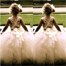 2017 New Flower Girl Dresses Princess Ball Gown Communion Party Pageant Dress for Little Girls Kids Children Dress for Wedding