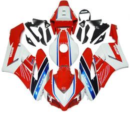 Compra Online Venta caliente de la motocicleta-Nuevos carenados de la inyección cabidos para Honda CBR1000RR 2004 2005 04 05 Kit de carenado de la motocicleta del ABS Carrocería de la moto Capota rojo azul blanco venta caliente