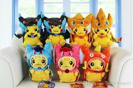 Mega tv en venta-10 '' 25cm Poke Center Mega Tokio Pikazard Pikachu Charizard Magikarp Brinquedo Juguetes de peluche Muñeca Doll 7 estilo
