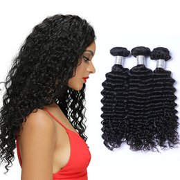 Best Quality Brazilian Hair Extensions Malaysian Human Virgin Hair Weaves Deep Wave Natural Color 3pcs 50g pc Can Be Dyed Free Shipping