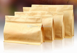 kraft paper bag stand up width enlarged bag for rice corn coffee tea tea cookie candy four size free shipping by DHL mini order 200pcs