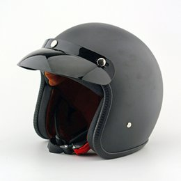 Motorcycle Helmets Electric helmet Half Face helmet has a wraparound visor and shock-absorbent rubber padding Motorcycle Accessories