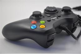 Joystick usb en Línea-Nuevo Game Controller Xbox 360 Gamepad Negro USB Cable PC XBOX360 joypad joystick consolas de juegos para ordenador portátil